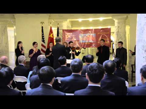 The College of Idaho Chamber Singers perform at capitol building