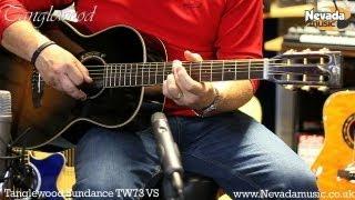 Tanglewood TW73 Vintage Sunburst Acoustic Guitar Demo - Richie Stopforth