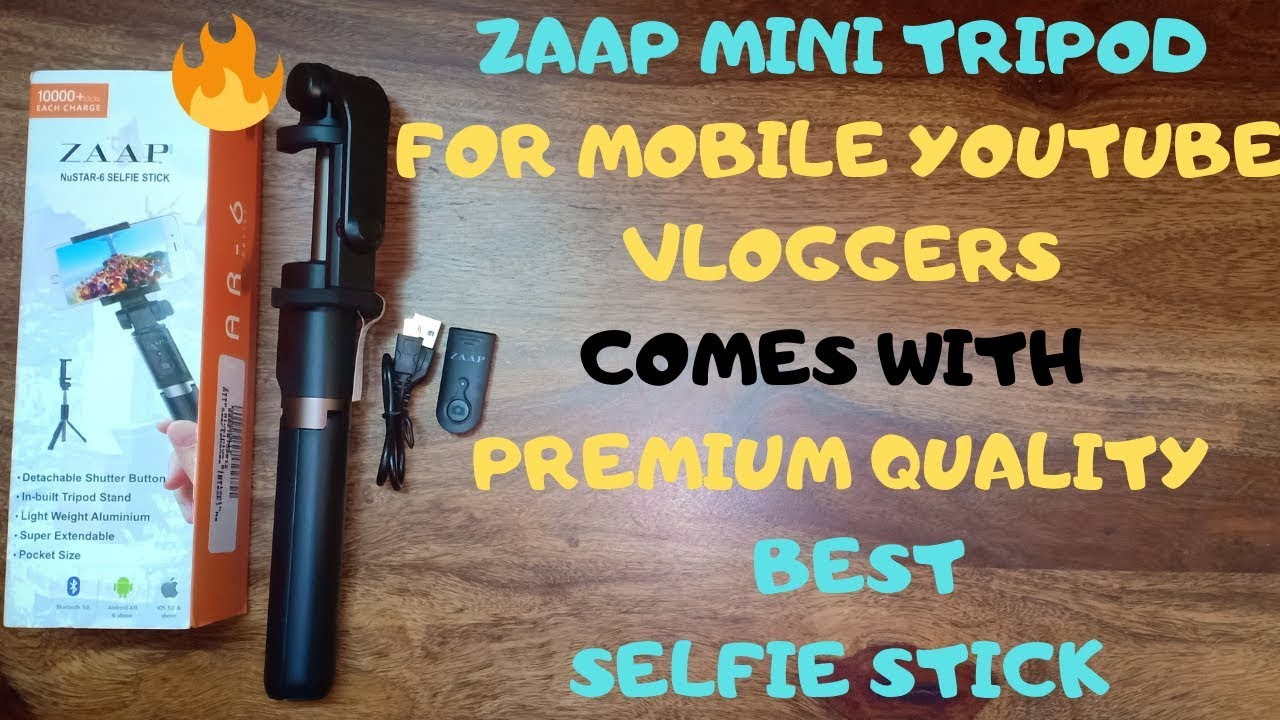 79f23aef9b4b6c ZAAP MOBILE YOUTUBE VLOGGER Bluetooth Selfie Stick Tripod review (in ...