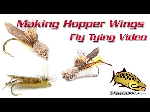 Making Simple Hopper Wings Instructions - Fly Tying Tips and Tricks