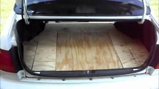 How To Make A Custom 98' Civic Trunk Mat Pt.2