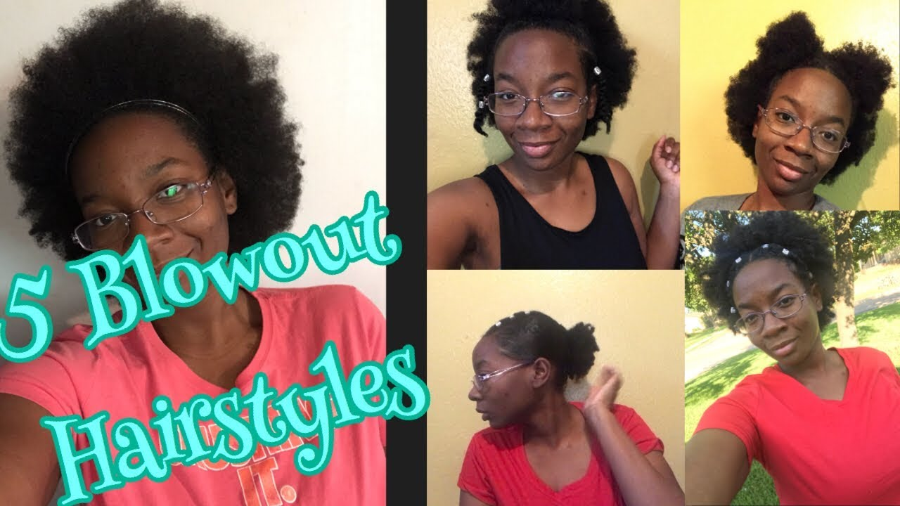 5 Hairstyles For Short Medium Natural Hair On Blowout Youtube