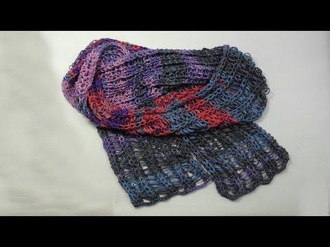 Stricken – Schal NEAPEL Fallmaschen – Woolly Hugs 09 – Veronika Hug