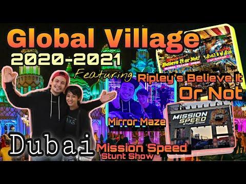 Dubai Global Village 2020-2021 Ft. Mirror Maze ,Ripley's Believe it Or Not, Mission Speed Stunt Show
