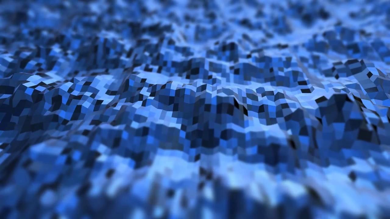 Blue live wallpaper 3d geometry mountains aavfx 4k - 4k moving wallpaper ...