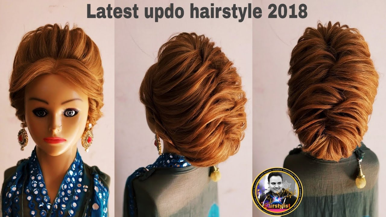 Western Party Wear Updo Hairstyle 2018 Latest Updo Hairstyle With