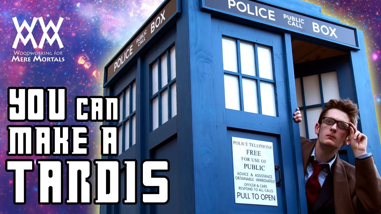 How to build a TARDIS! Limited tools needed. Free plans. - YouTube