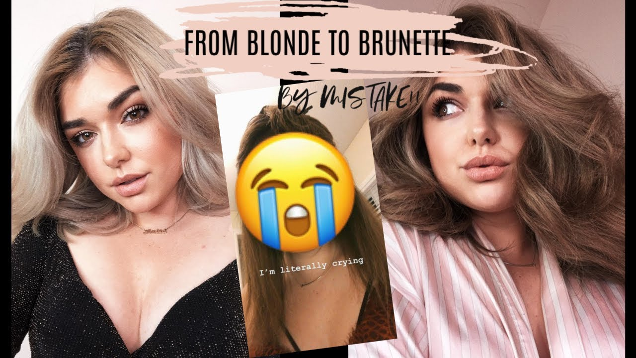 DIY: FROM BLONDE TO BRUNETTE AT HOME BY MISTAKE!!! MY HAIR TURNED GREEN!