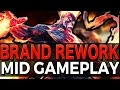 BRAND REWORK MID GAMEPLAY - League of Legends