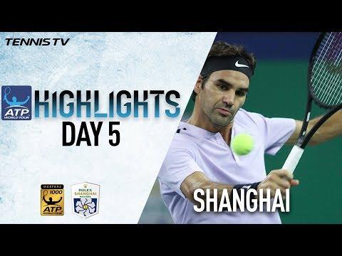 Highlights Nadal And Federer Advance Thursday, Zverev Upset In Shanghai