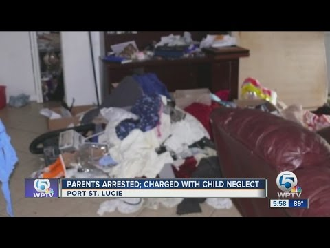 Parents arrested; charged with child neglect