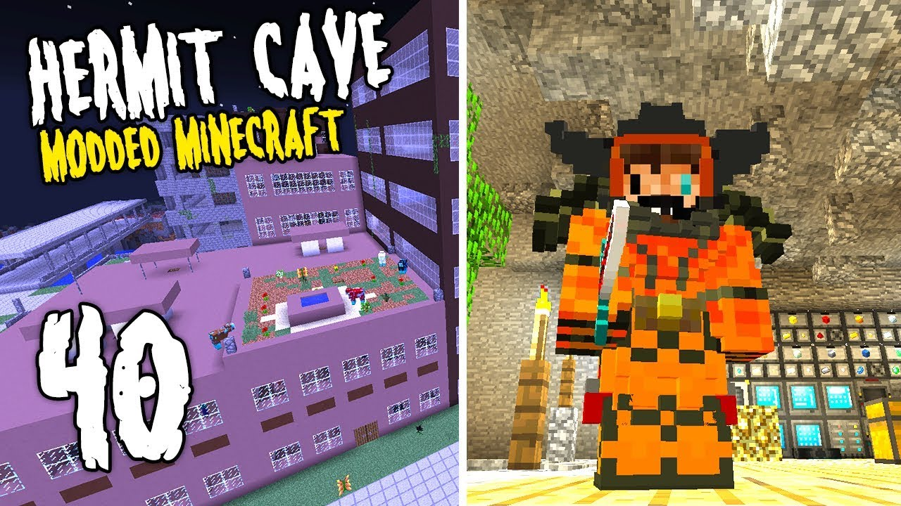 Hermit Cave: 40   The BUMBO Armor!   Modded Minecraft