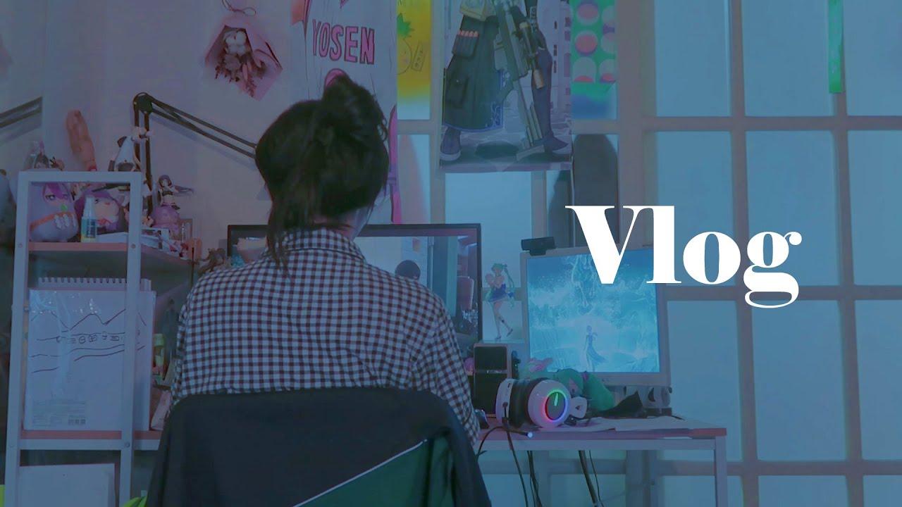 Vlog 코스오타쿠 일상브이로그, 입술피어싱,  판다히어로 코스촬영, 아빠랑 사이좋은 하루하루 ^-^