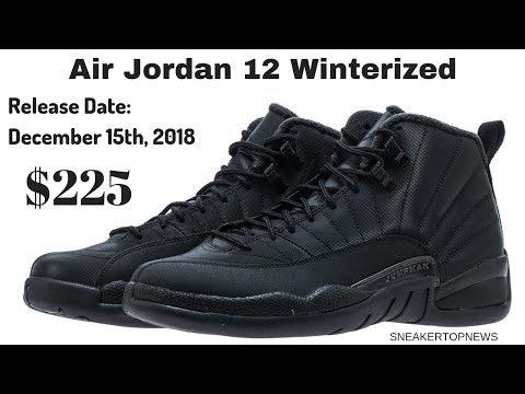 "best loved 6154c c3546 The Air Jordan 12 Winterized ""Triple Black"" Releases On December 15th"