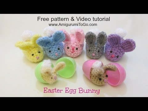Crochet Along Easter Egg Bunny Youtube