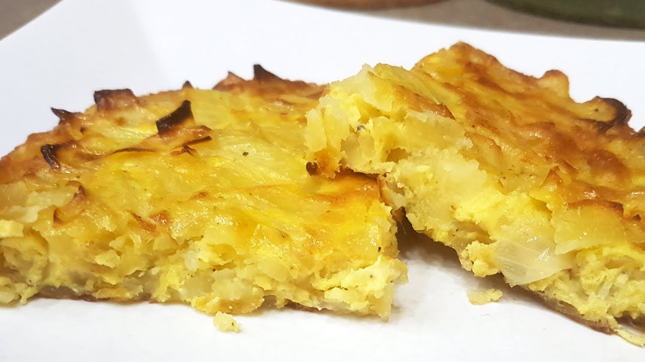 Ricetta Tortillas Patate E Cipolla.Frittata Di Patate E Cipolle Al Forno Foodvlogger Youtube