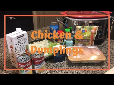 Chicken & Dumplings|Crockpot| Crocktober  Collab 2018| Vlogtober Day 1