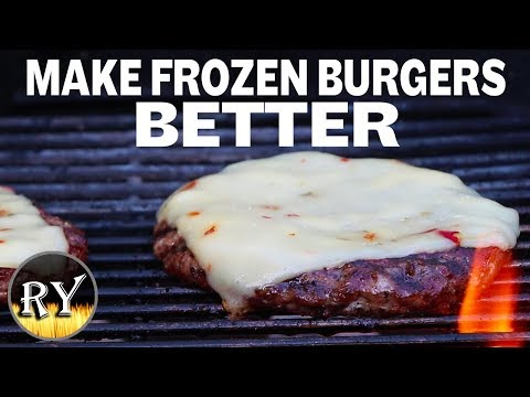 How long to cook frozen hamburgers on stove