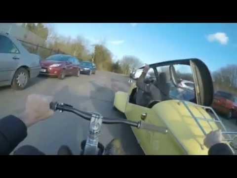 Messerschmitt bubble car and a drift trike! JR Drift Trikes