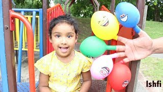 Pre School Toddler Learn Colors with Balloon & Finger Family Song