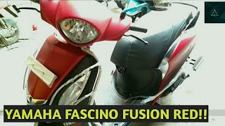 Yamaha fascino fusion red colour BS4 model 2017!!