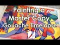 Master Copy of Andre' Durain's L'Estaque : Gouache Demo