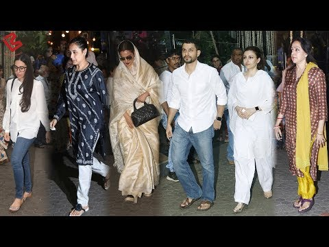 Rani, Rekha, Karisma ,Hema at Shashi Kapoor's Chautha