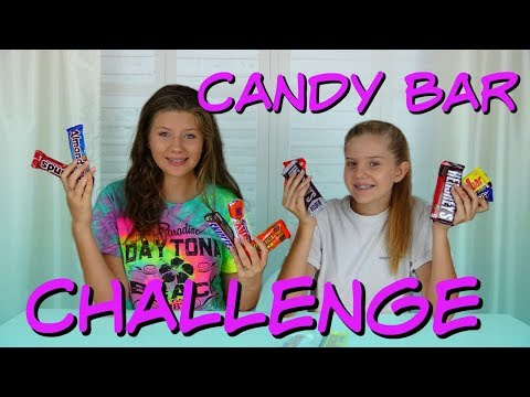 CANDY BAR CHALLENGE || Taylor and Vanessa