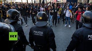 España: Protestas en Barcelona por el juicio contra los líderes del proceso independentista catalán
