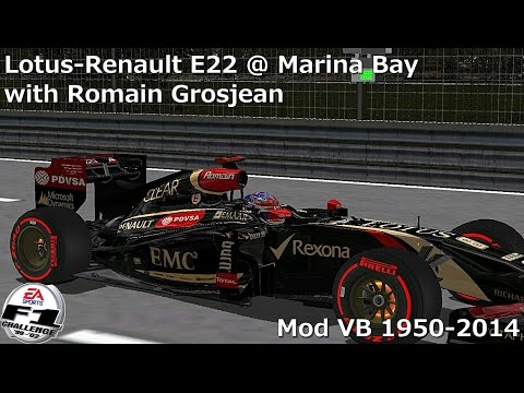 [F1C] Lotus-Renault E22 @ Marina Bay with Romain Grosjean (Mod VB 1950-2014) [HD]