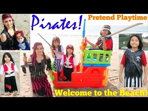 Pirates Pretend Playtime at the Beach! A Pirate Ship Playhou