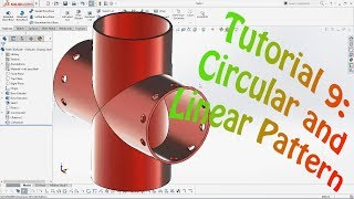 SolidWorks Tutorial 9 Circular Pattern and Linear Pattern