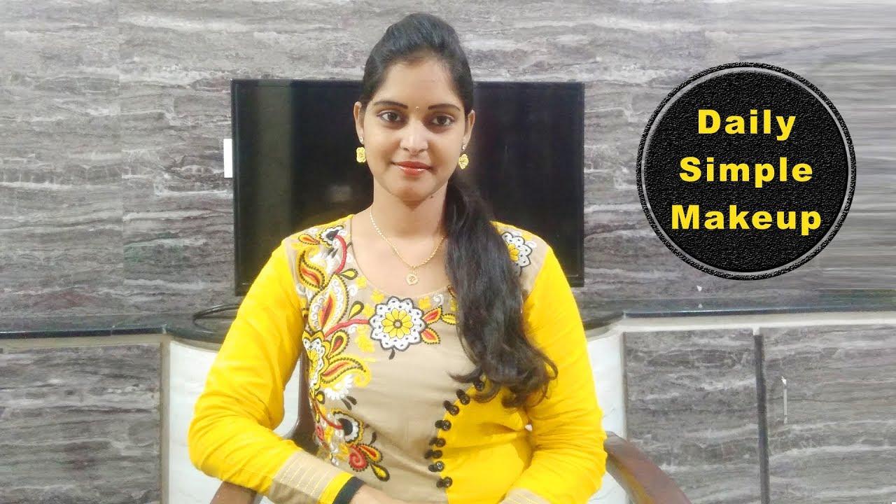 Download Everyday Simple Makeup in Telugu    Daily Simple Makeup   MY Every Day Makeup Look n Telugu   