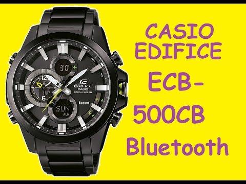 Обзор и настройка часов Casio Edifice ECB-500DC-1AER   Review and setting Casio Edifice ECB-500DC