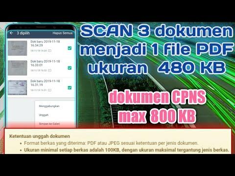 Scan Beberapa Halaman Dan Menggabungkan Berkas Dalam 1 File Pdf Di Android Youtube