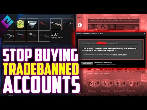 Buying Trade Banned Steam Accounts For Skins Is A Failure