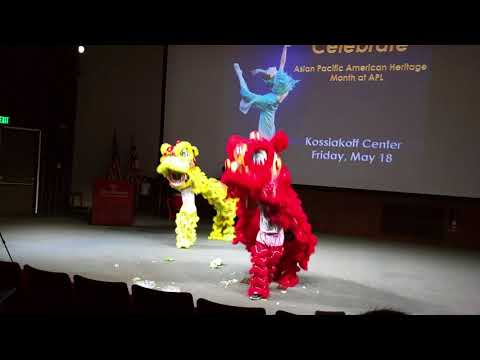 "HCCS Lion Dance Club led by Coach Ching-Yin ""Bee"" Lee at Johns Hopkins University"