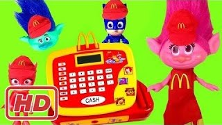 PLUS Trolls Movie Poppy and PJ Masks Work McDonald's Register with Happy Meal Toys