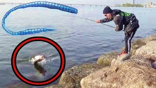 【必見】超なが〜いルアーを投げたらガチで魚が食ってきた!