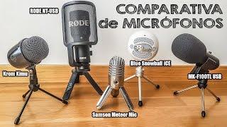 COMPARATIVA DE MICRÓFONOS | MK-F100TL | Krom Kimu | Samson Meteor | Snowball | Rode NT-USB