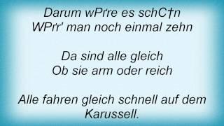 JГѓВјrgen Marcus - Auf Dem Karussell Fahren Alle Gleich Schnell Lyrics