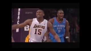 Metta World Peace (Ron Artest) Elbows James Harden!
