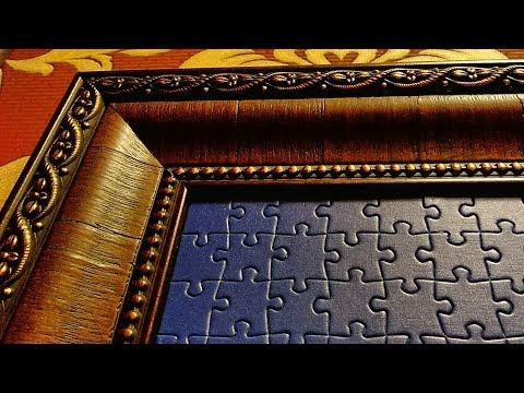 Оформление картин из пазлов/ Как склеить пазл/ Как сделать рамку/ Как собрать картину. Puzzle
