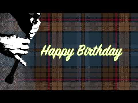 Happy Birthday Greeting Card Scottish Art YouTube