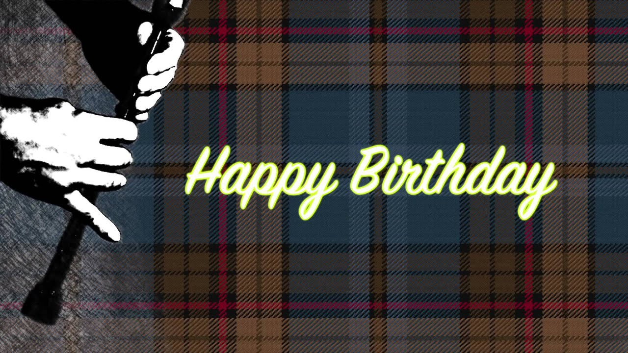 Happy birthday greeting card scottish art youtube m4hsunfo