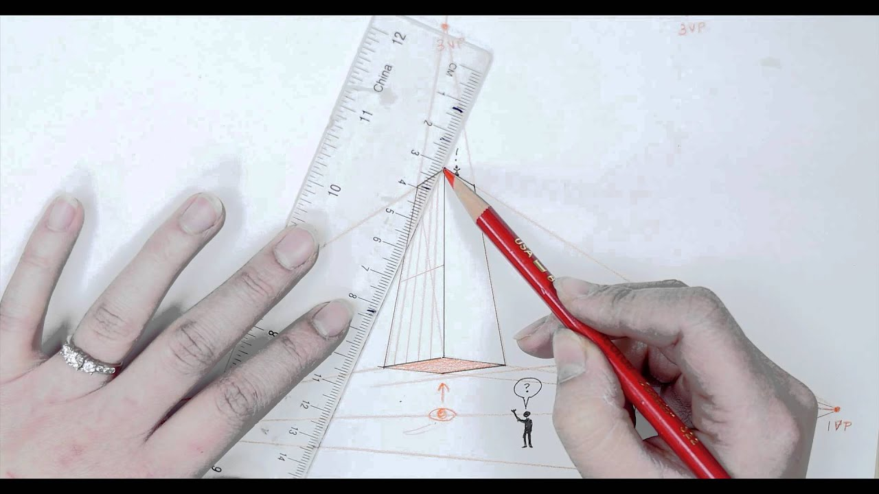 Drawing a Building in 3 Point Perspective: Quick Art Tutorial for Beginners
