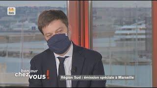 """Le maire de Marseille, Benoît Payan, se dit """"inquiet par une rupture dans la vaccination fin avril"""""""
