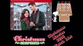 Updated List of Christmas Movies 2016 Watch List| Hallmark Movies w Bitmoji Features