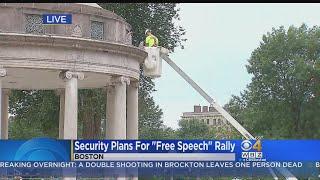 Police Set Up Cameras Ahead Of Boston Free Speech Rally