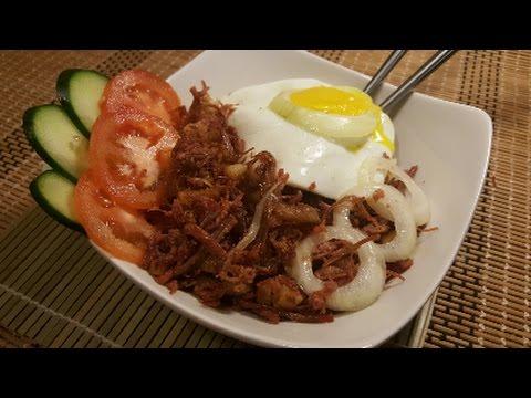 Filipino Style Sizzling Corned Beef Youtube